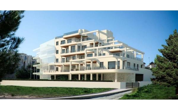 Modern lägenhet med havsutsikt