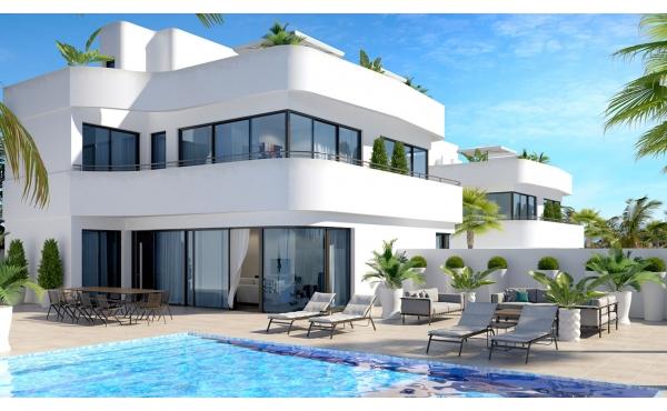 Villor med magnifik stil och design. 3 sovrum, 2 badrum och privat pool