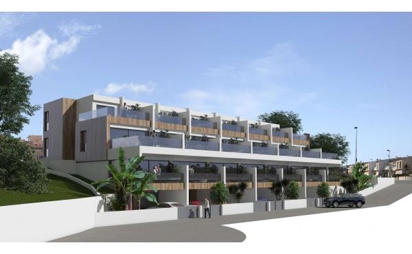 Modern lägenhet bara 600 meter från stranden med havsutsikt!