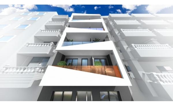 Helt ny byggnad av 12 moderna lägenheter nära stranden