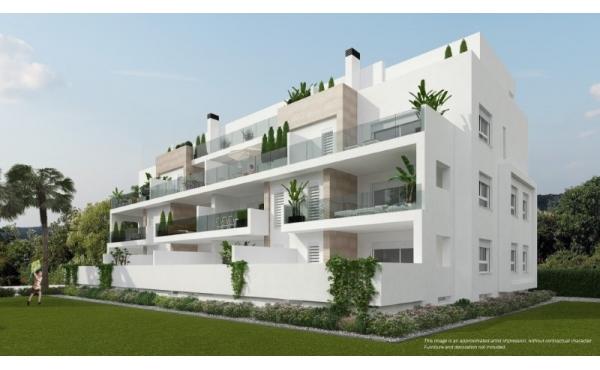 Helt nya lägenheter är omgivna av 3 magnifika golfbanor i Villamartin