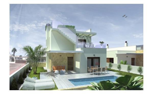 Moderna 3 sovrum och 2 badrum lyxvillor med privat pool